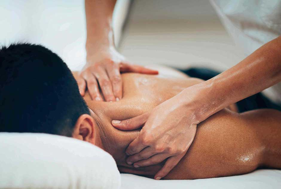 male back massage