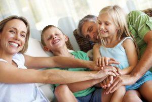 Happy naturopahic family