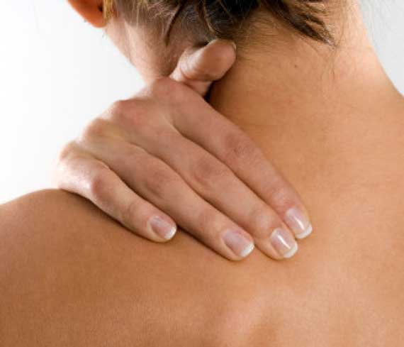 Shoulder pain in need of a massage